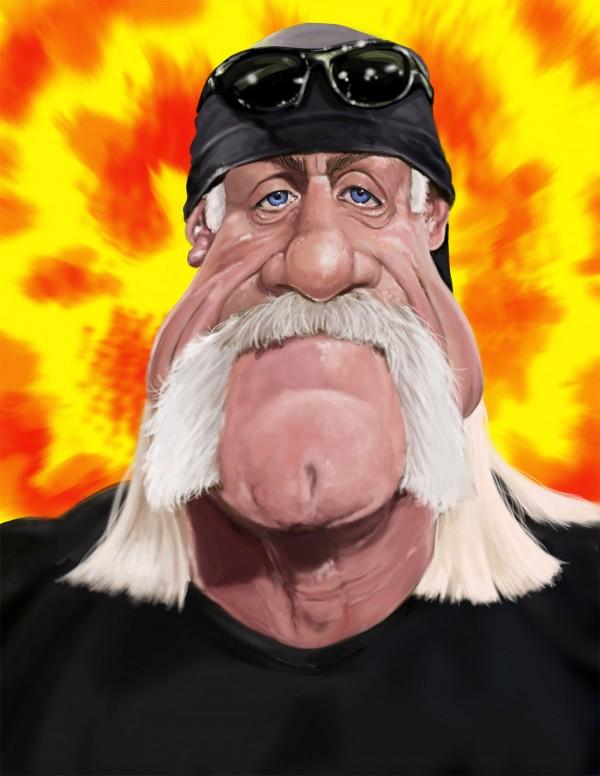 Caricatura de Hulk Hogan