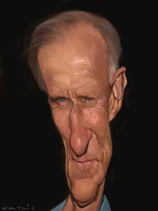 Caricatura de James Cromwell