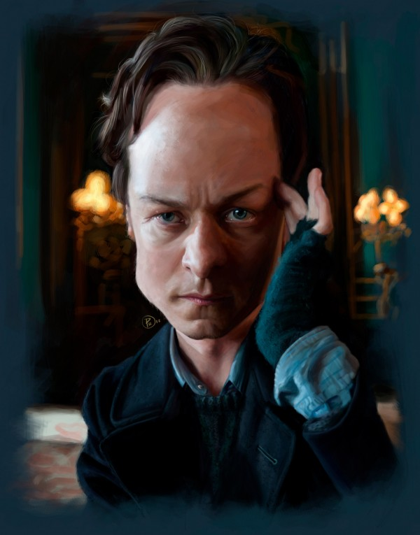 Caricatura de James McAvoy