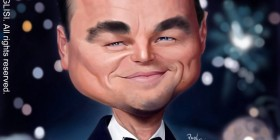 Caricatura de Leonardo DiCaprio