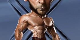 Caricatura de Lobezno (Hugh Jackman)