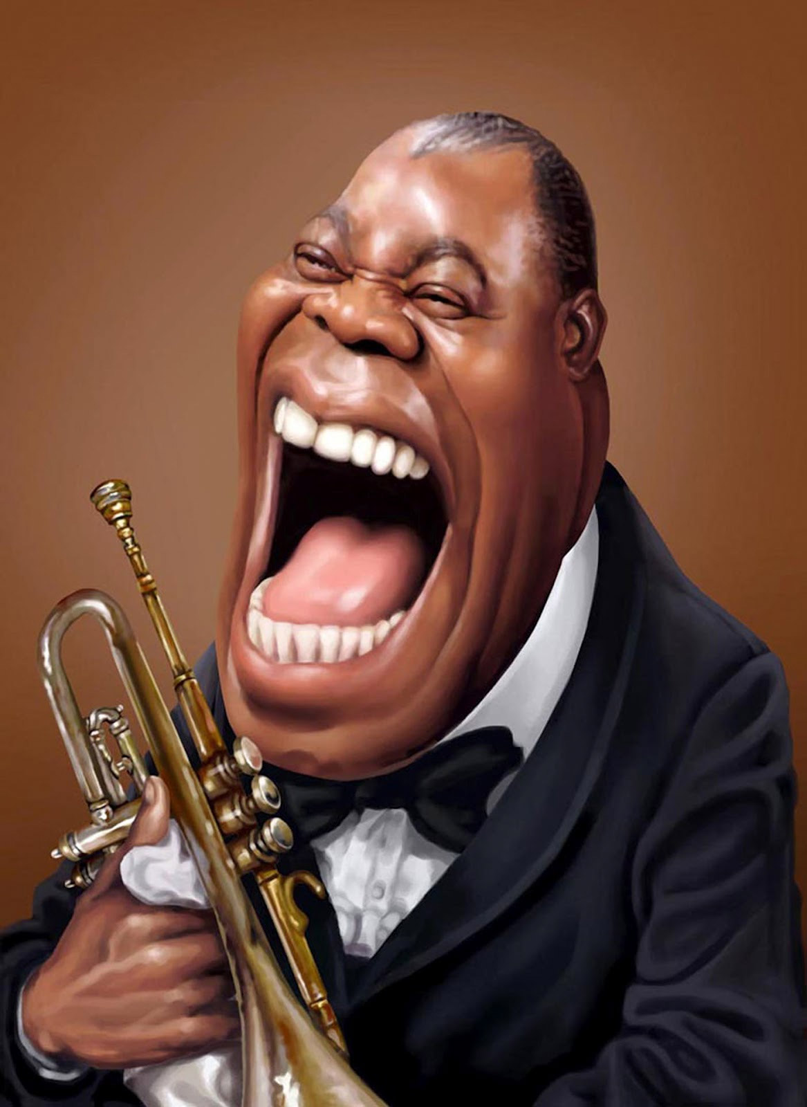 caricatura de louis armstrong. Black Bedroom Furniture Sets. Home Design Ideas
