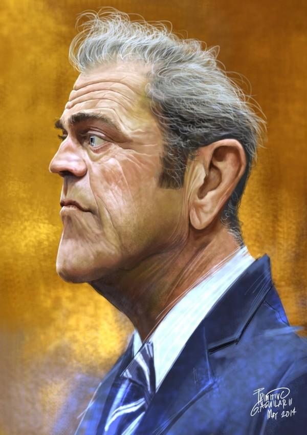 Caricatura de Mel Gibson