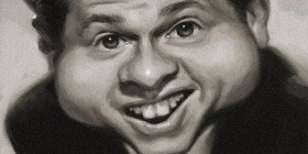 Caricatura de Mickey Rooney