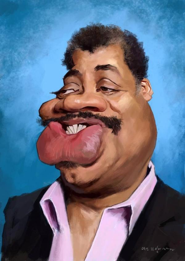 Caricatura de Neil deGrasse Tyson