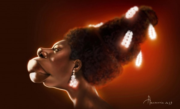 Caricatura de Nina Simone