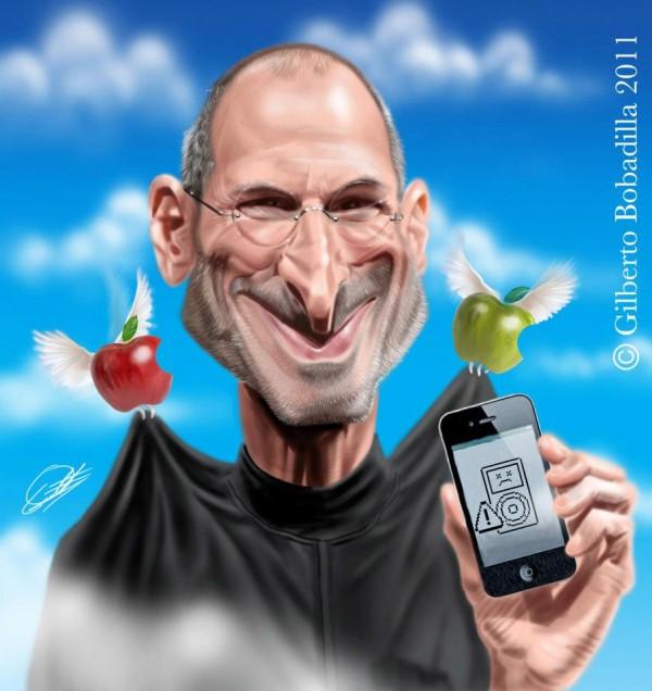 Caricatura de Steve Jobs