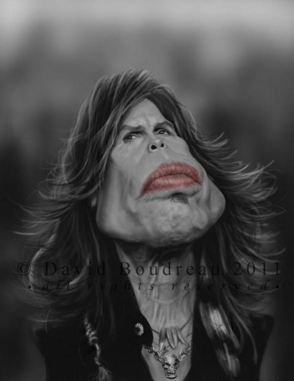 Caricatura de Steven Tyler