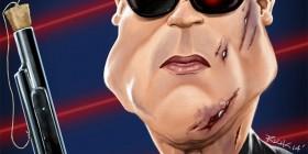 Caricatura de Terminator