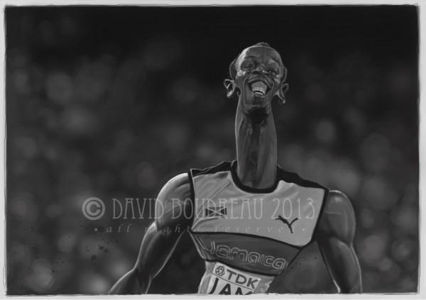 Caricatura de Usain Bolt