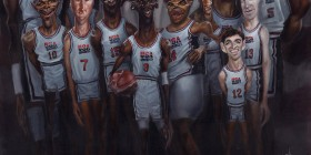 Caricatura del Dream Team
