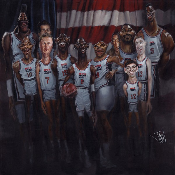 Caricatura del Dream Team