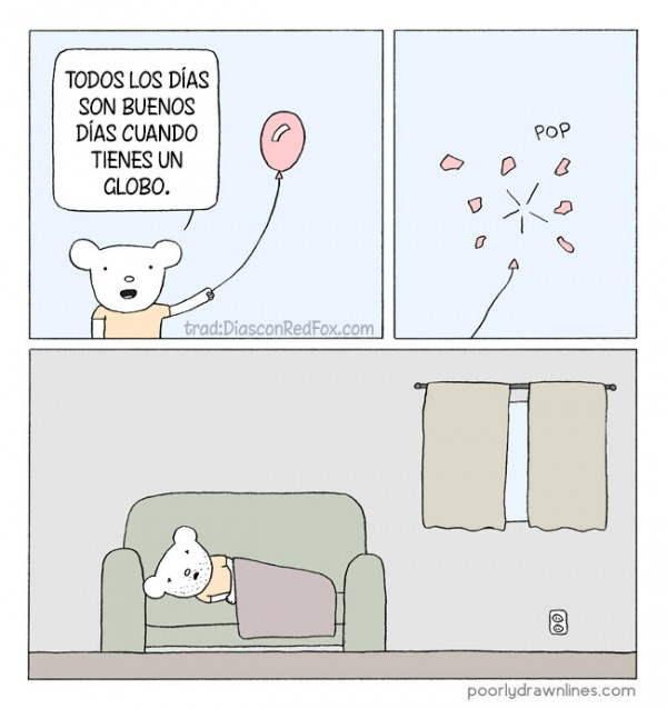 Cuando tienes un globo