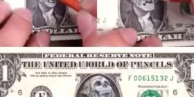 Dibujando sobre un dólar