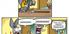 En los dibujos animados no pasa