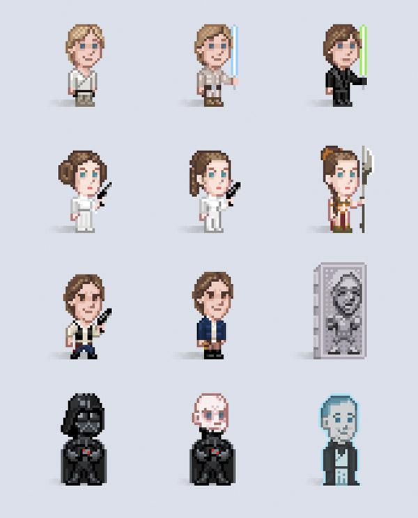 Evolución Star Wars Pixels