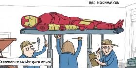 Iron Man en su chequeo anual