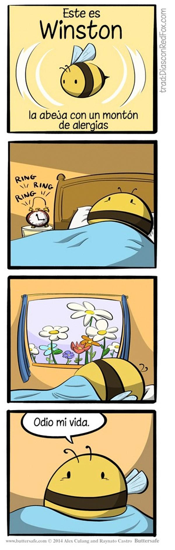 La abeja alérgica