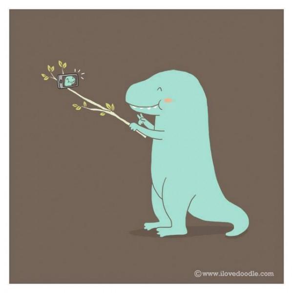 La selfie del T-Rex