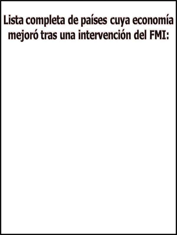 Lista completa de países intervenidos por el FMI