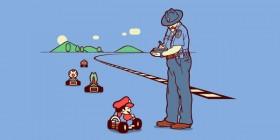 Mario Bros multado por exceso de velocidad