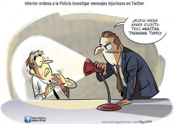 Mensajes injuriosos en Twitter