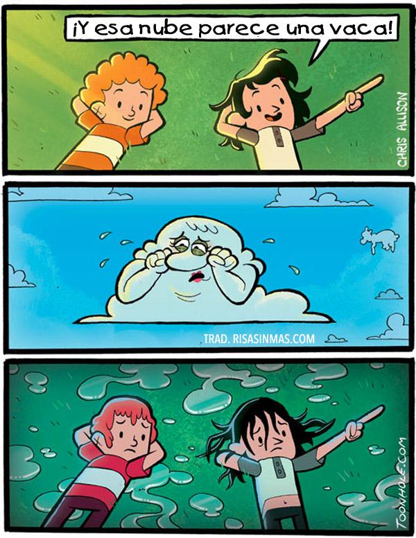Mirando las nubes
