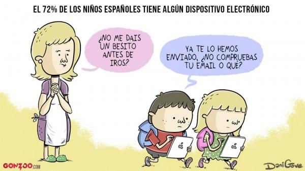 Niños españoles y dispositivos electrónicos