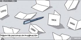 Origami de personas sin imaginación