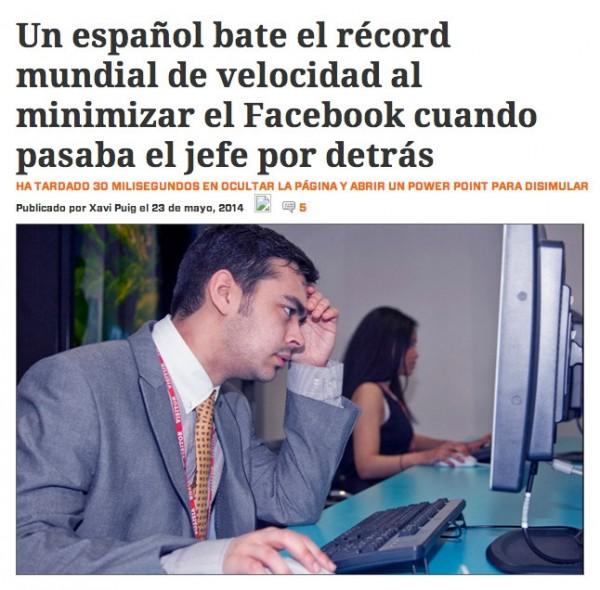 Récord mundial de minimizar Facebook