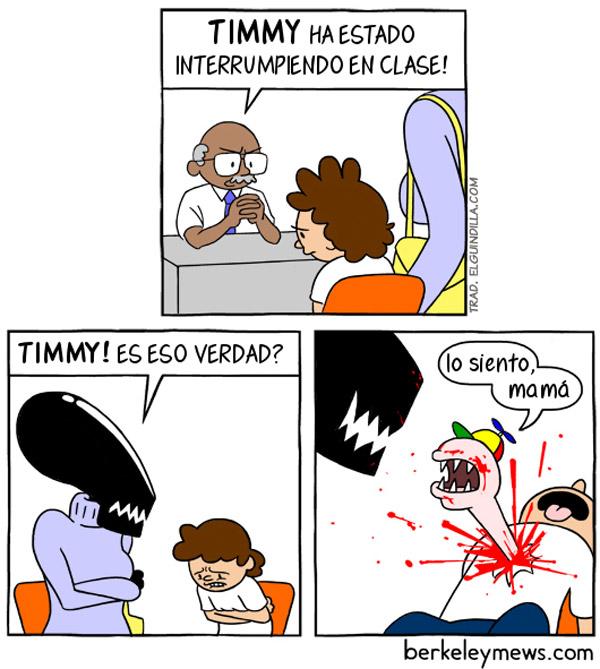 Timmy interrumpe en clase
