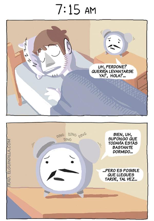Un despertador muy educado