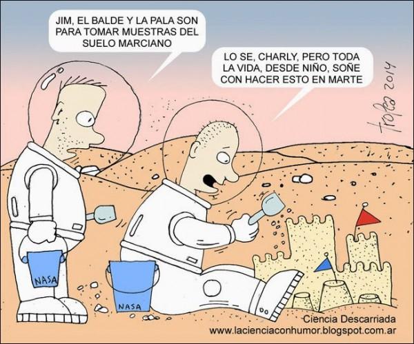 Y un día el hombre-niño llegará a Marte