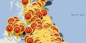 Encontrar un McDonalds en Inglaterra esta tirado