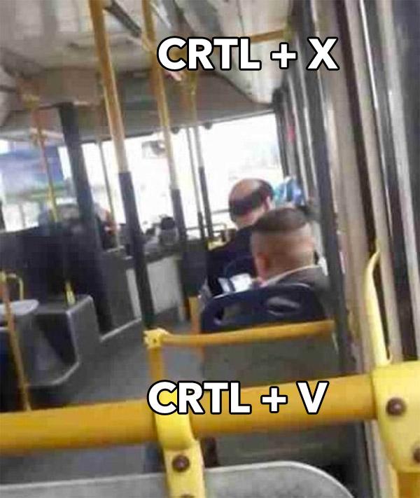 CRTL + X y CRTL + V