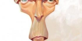 Caricatura de David Bowie