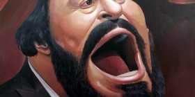 Caricatura de Luciano Pavarotti
