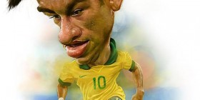 Caricatura de Neymar Jr.