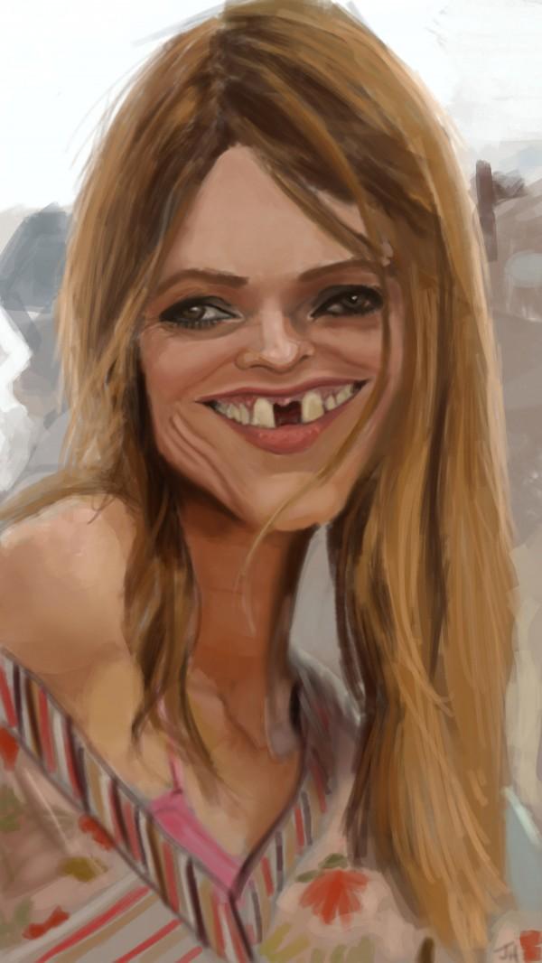 Caricatura de Vanessa Paradis