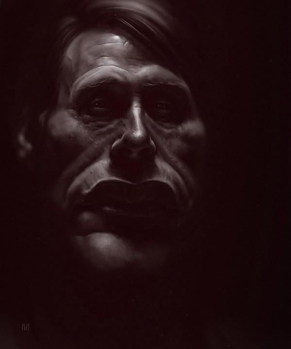 Caricatura del Dr. Hannibal (Mads Mikkelsen)