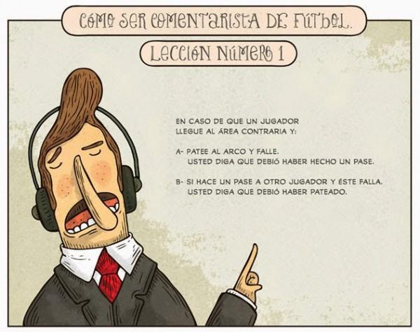 Comentaristas de fútbol: Lección 1
