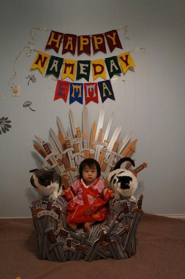 Cumpleaños estilo Juego de Tronos