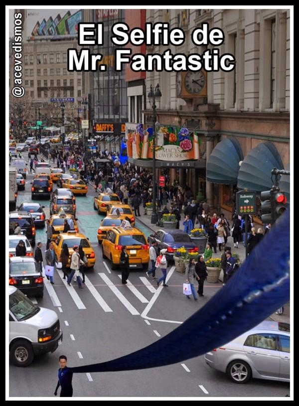 El selfie de Mister Fantastic