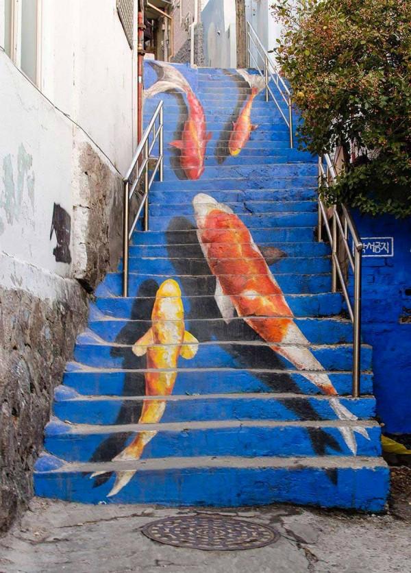 Escaleras de Seúl, Corea del sur