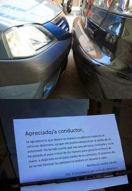 Estimado conductor...