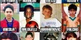 Futbolistas de niños