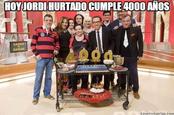 Jordi Hurtado cumple 4000 años