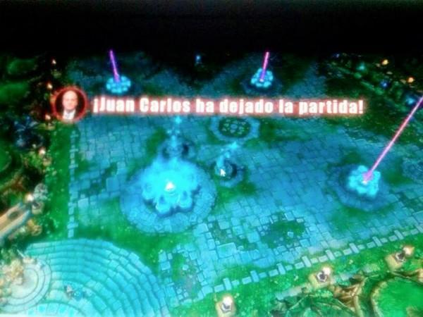 Juan Carlos ha dejado la partida