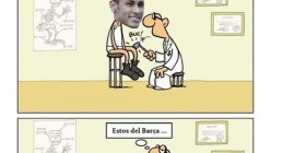Neymar pasando un control médico