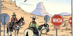 Señales de tráfico en el Oeste